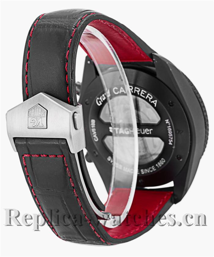 Tag Heuer Grand Carrera Quartz Black Rubber Strap CAV518B.FC6237-1