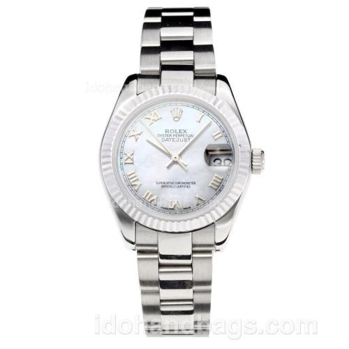 Rolex Datejust Swiss ETA 2355 Automatic Movement with White Dial S/S-Sapphire Glass 195236