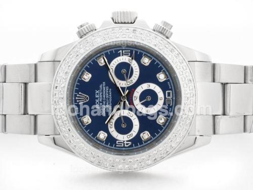 Rolex Daytona Automatic Blue Dial with Diamond Marking & Bezel S/S 33679