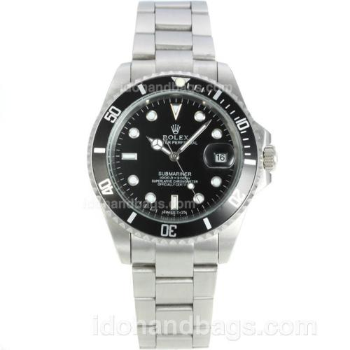 Rolex Submariner Automatic with Black Bezel and Dial S/S 126580