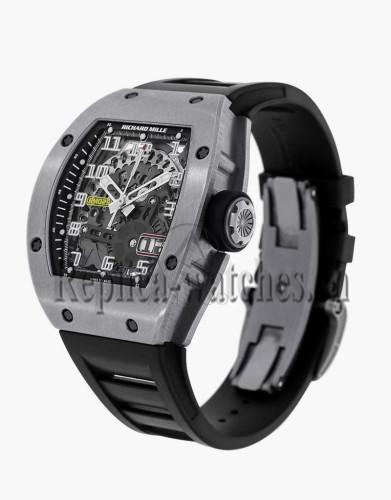 Replica Richard Mille Black Rubber Strap Automatic RM029 Titanium Watch