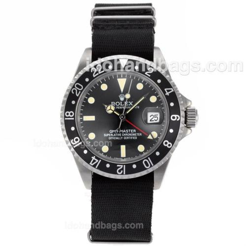 Rolex Vintage GMT-Master with Black Bezel-Nylon Strap 25978