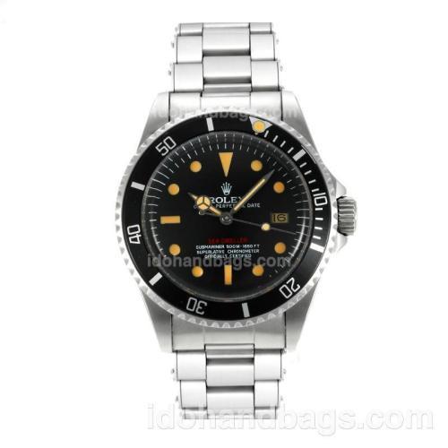 Rolex Sea-Dweller Swiss ETA 2836 Movement Vintage Edition with Black Dial Orange Markers-Rivet Strap 126818