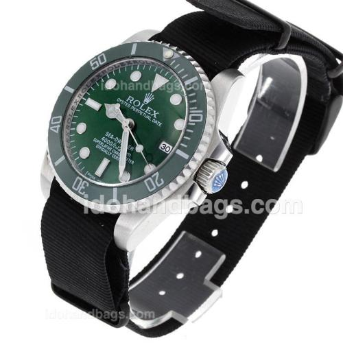 Rolex Sea-Dweller Automatic Green Ceramic Bezel and Dial with Nylon Strap-Sapphire Glass 119210