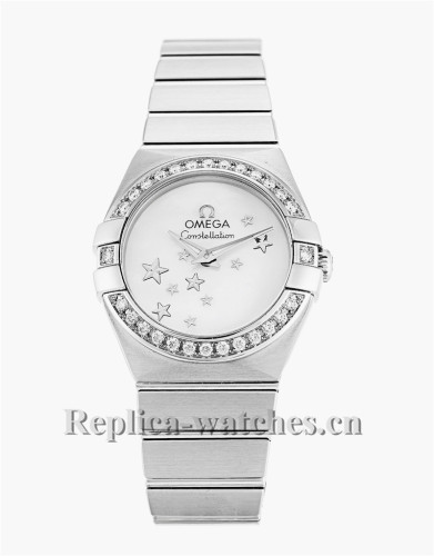 Omega Constellation Ladies White Dial 24MM 123.15.24.60.05.003