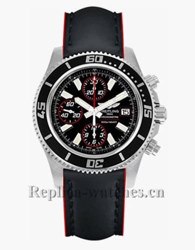 Breitling Superocean Chronograph Leather Strap A1334102 Replica Watch