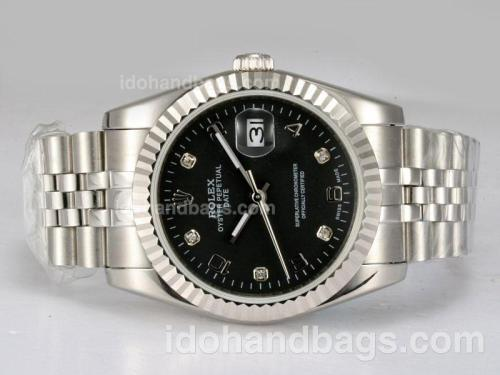Rolex Datejust Automatic with Black Dial 12883