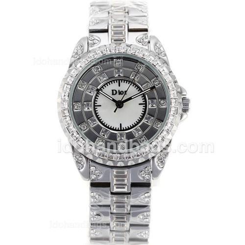 Dior Austria Crystal Ladies Watch Full Diamond Bezel and Dial 90550