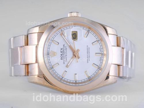 Rolex Datejust Automatic Full Gold with White Dial 25816