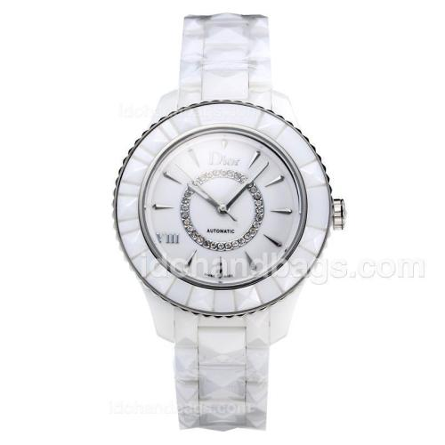 Dior Automatic Full Ceramic with White Dial 197214