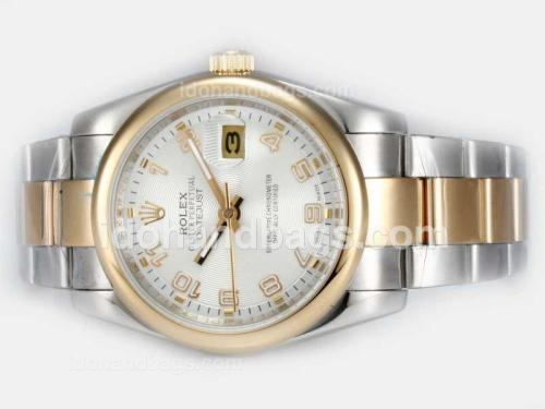 Rolex Datejust Automatic Two Tone with White Dial-Number Marking 20943