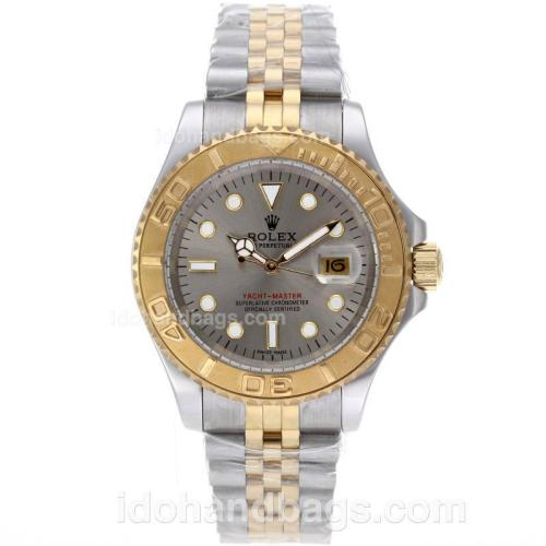 Rolex Yacht-Master Automatic Two Tone with Gray Dial 61760