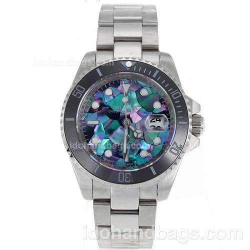 Rolex Submariner Automatic Black Ceramic Bezel with Puzzle Style MOP Dial S/S-Sapphire Glass 119078