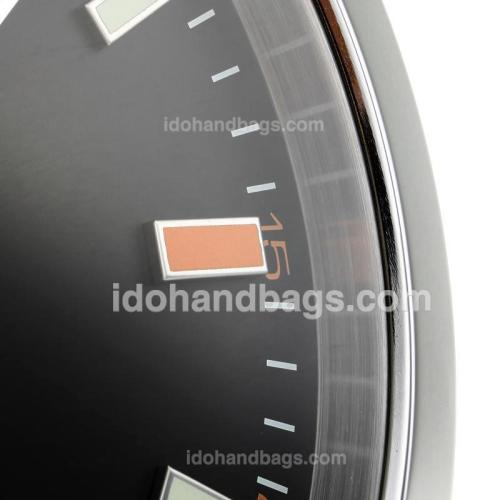 Rolex Milgauss Wall Clock with Black Dial-Red Marker 182442