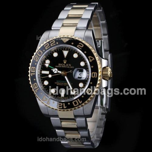 Rolex GMT-Master II Automatic Two Tone with Black Dial-Ceramic Bezel 26078