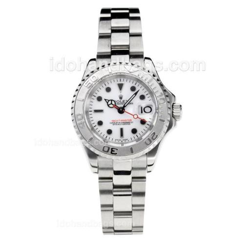 Rolex Yachtmaster Super Luminous Swiss ETA 2671 Automatic Movement with White Dial S/S-Sapphire Glass 187020