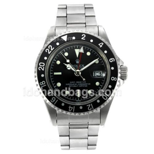 Rolex GMT-Master Swiss ETA 2836 Movement Vintage Edition with Black Dial S/S 126812