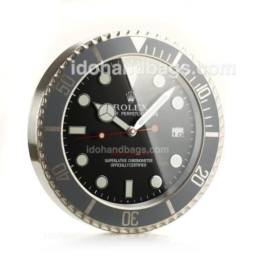 Rolex Yachtmaster Wall Clock with Black Dial-White Dot Markers 189278
