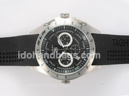 Tag Heuer Mercedes-Benz SLR Working Chronograph with Black Dial 10230