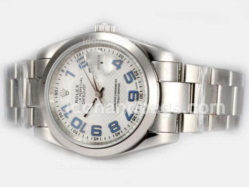 Rolex Datejust Automatic with White Dial-2008 New Version Blue Number Marking 19298
