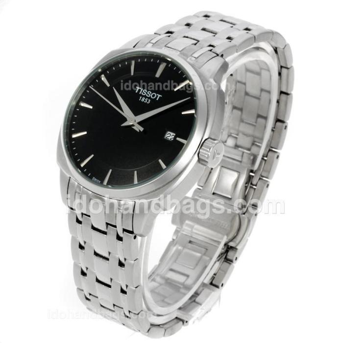 Tissot T-classic Stick Markers with Black Dial 138768