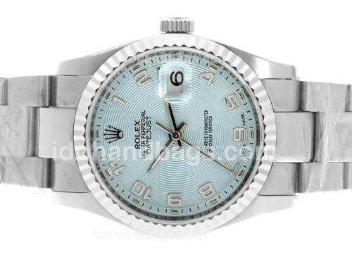 Rolex Datejust Automatic Number Markers with Blue Dial-Same Structure as ETA Version-lady size 40580
