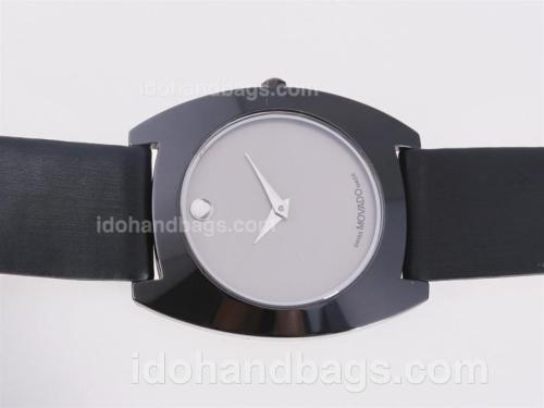 Movado Classic Authentic Ceramic Case with Gray Dial-Couple Watch 25452