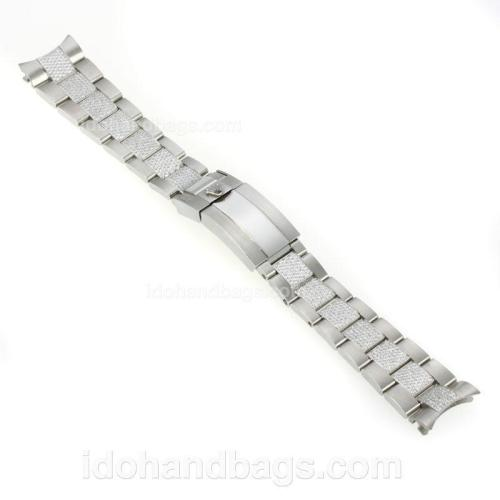 Rolex Stainless Steel Strap with Diamonds for GMT Swiss Version 125692