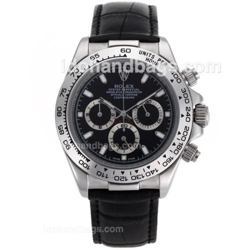 Rolex Daytona Cosmograph Working Chronograph Black Dial with Stick Marking 34934