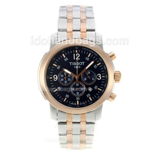 Tissot PRC200 Working Chronograph Two Tone with Black Dial 122970