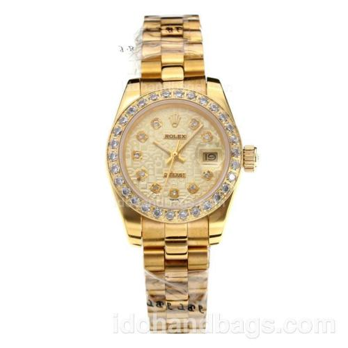 Rolex Datejust Automatic Full Yellow Gold Diamond Markers with Computer Dial-Sapphire Glass 187806