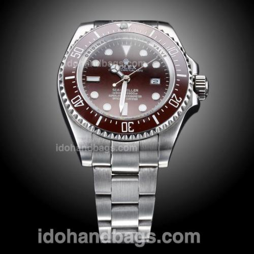 Rolex Sea-Dweller Deepsea Automatic Brown Ceramic Bezel with Brown Dial S/S(Gift Box is Included) 187496