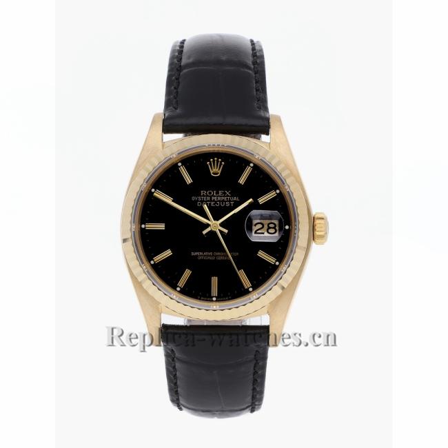 Rolex Replica Datejust Black Dial 16018 36MM