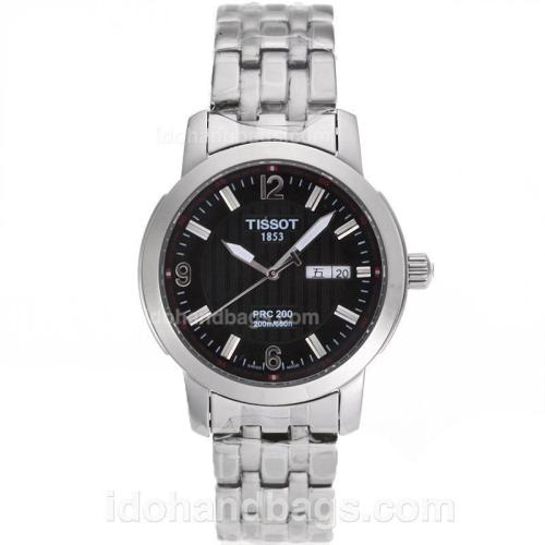 Tissot PRC200 Day-Date Automatic with Black Dial S/S-Sapphire Glass 82584