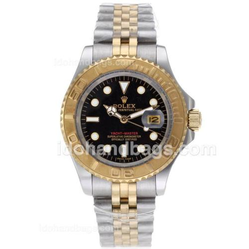 Rolex Yacht-Master Automatic Two Tone with Black Dial 61764