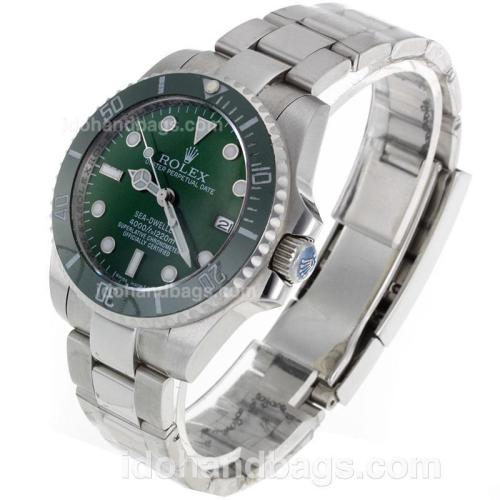 Rolex Sea-Dweller Automatic with Green Ceramic Bezel and Dial S/S-Sapphire Glass 119090