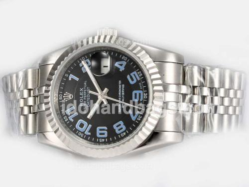 Rolex Datejust Automatic with Black Dial-Blue Number Marking 19289