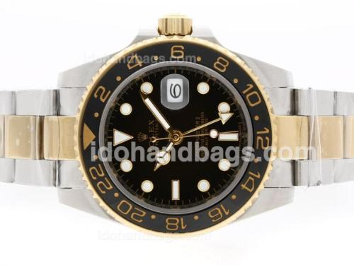 Rolex GMT-Master II Automatic 18K Two Tone Plated with Black Dial-Ceramic Bezel 36532