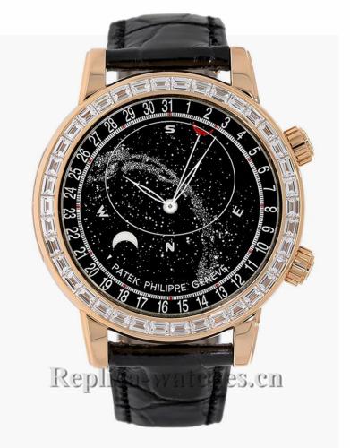 Patek Philippe Replica Grand Complications Rose Gold Gem Celestial 44MM Watch 6104R001