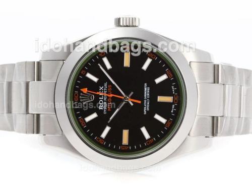Rolex Milgauss Swiss ETA 2836 Movement with Tinted Green Sapphire-Correct Size 23913