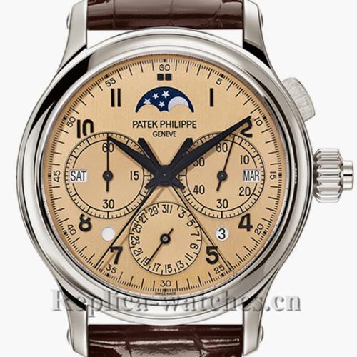 Patek Philippe Grand Complications Platinum Moon Phase Indicator 5372P-010 Replica Watch