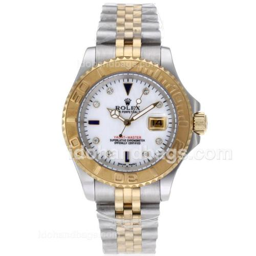 Rolex Yacht-Master Automatic Two Tone Diamond Markers with MOP Dial 61766