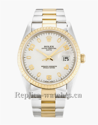 Rolex Oyster Perpetual Date White Dial 34MM 15223
