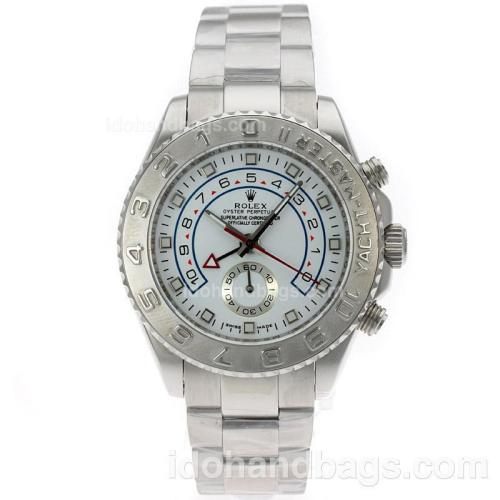 Rolex Yacht-Master II Automatic with White Dial S/S-Same Structure as ETA Version-High Quality 71707