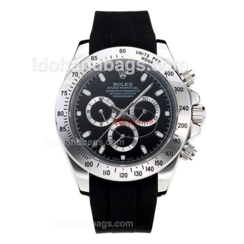 Rolex Daytona II Automatic with Black Dial-Rubber Strap 186308
