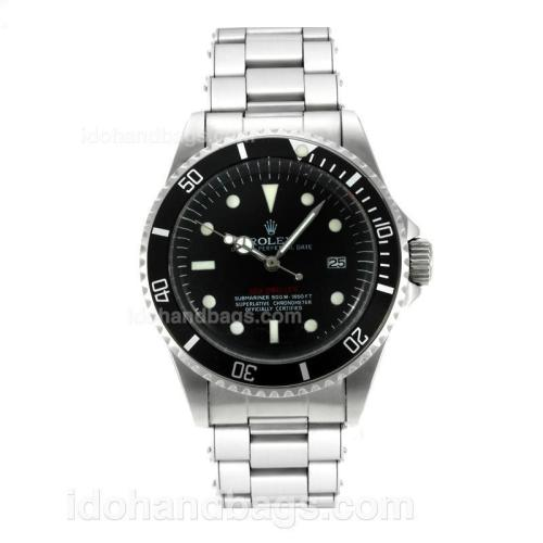 Rolex Sea-Dweller Swiss ETA 2836 Movement Vintage Edition with Black Dial White Markers-Rivet Strap 126816