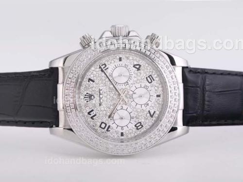 Rolex Daytona Automatic Diamond Bezel and Dail-Number Marking 25668