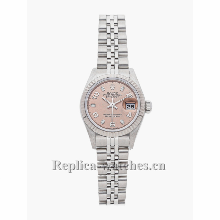 Rolex Replica Datejust Pink Face Silver 79174