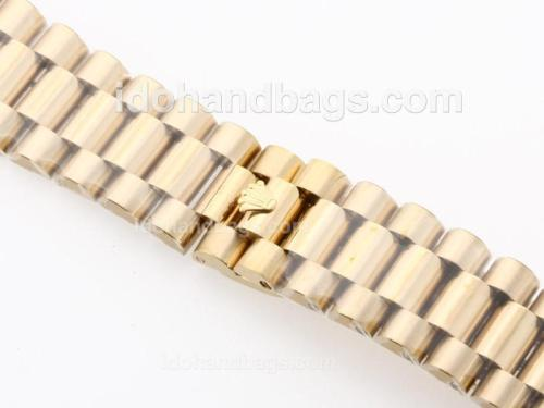 Rolex Presidential Bracelet With 18k Yellow Gold Plated 34220