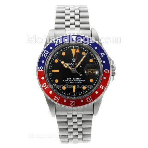 Rolex GMT-Master Swiss ETA 2836 Movement with Black Dial Orange Markers-Vintage Edition 126780